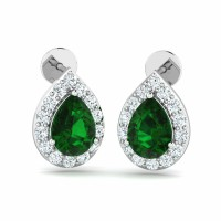 Diamond Gemstone Earrings for Women 0.42ct Natural Certified Solid Gold