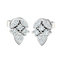 Diamond Earrings 0.25ct Natural Certified Solid Gold Designer Studs