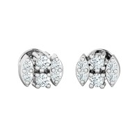 Diamond Studs 0.18ct Natural Certified Solid Gold Wedding Earrings
