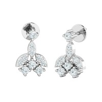 Diamond Earrings for Women 0.32ct Natural Certified Solid Gold Studs
