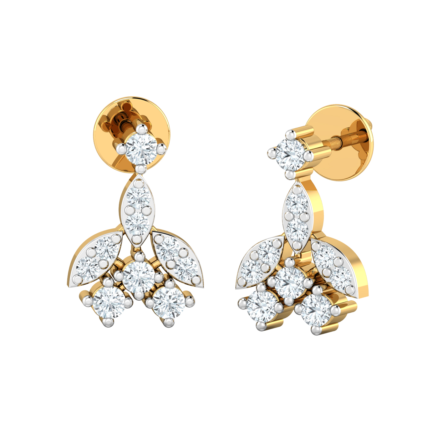 diamond earrings for women natural certified gold studs. Black Bedroom Furniture Sets. Home Design Ideas