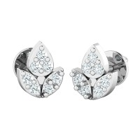 Diamond Drop Earrings 0.14ct Natural Certified Solid Gold Designer Studs