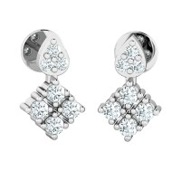 Diamond Earrings 0.26ct Natural Certified Solid Gold designer Studs