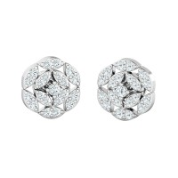 Diamond Studs 0.40ct Natural Certified Solid Gold Designer Earrings