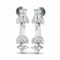 Diamond Earrings  0.26ct Natural Certified Solid Gold Anniversary Gift
