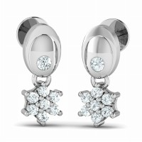 Diamond Earrings for Women 0.18ct Natural Certified Solid Gold Designer