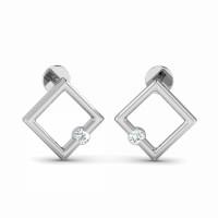 Diamond Drop Earrings 0.08ct Natural Certified Solid Gold Designer Studs