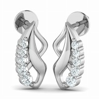 Diamond Earrings 0.15ct Natural Certified Solid Gold Designer Wedding Anniversary
