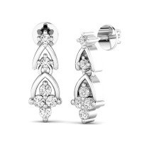 Diamond Earrings Studs 0.29ct Natural Certified Solid Gold