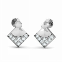 Designer Earrings 0.2ct Diamond Studs Natural Certified Solid Gold