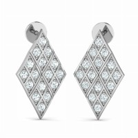 Diamond Earrings 0.4ct Natural Certified Solid Gold Designer Wedding