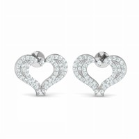 Heart Diamond Studs 0.47ct Natural Certified Solid Gold Earrings