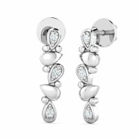 Diamond Drop Earrings 0.04ct Natural Certified Solid Gold Wedding Anniversry