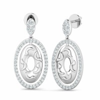 Gold Diamond Earrings 0.48ct Natural Certified Solid Gold Designer