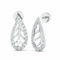 Diamond Drop Earrings 0.32ct Natural Certified Solid Gold Anniversary Studs
