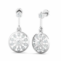 Gold Diamond Designer Earrings 0.28ct Natural Certified Solid Gold