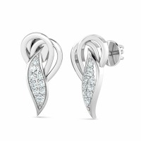 Diamond Drop Earrings 0.11ct Natural Certified Solid Gold Gift For Her