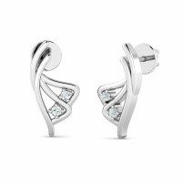 Diamond Earrings 0.04ct Natural Certified Solid Gold Wedding Anniversary