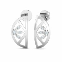 Diamond Earrings Studs 0.06ct Natural Certified Solid Gold Designer