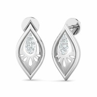 Diamond Life Earrings 0.06ct Natural Certified Solid Gold Perfect Gift