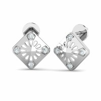 Diamond Earrings 0.08ct Natural Certified Solid Gold Wedding Studs