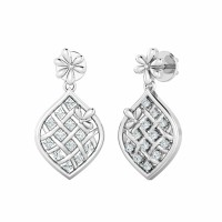 Gold Diamond Earrings 0.16ct Natural Certified Solid Gold Designer Weddidng