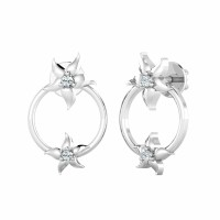 Diamond Earrings for Women 0.03ct Natural Certified Solid Gold Anniversary