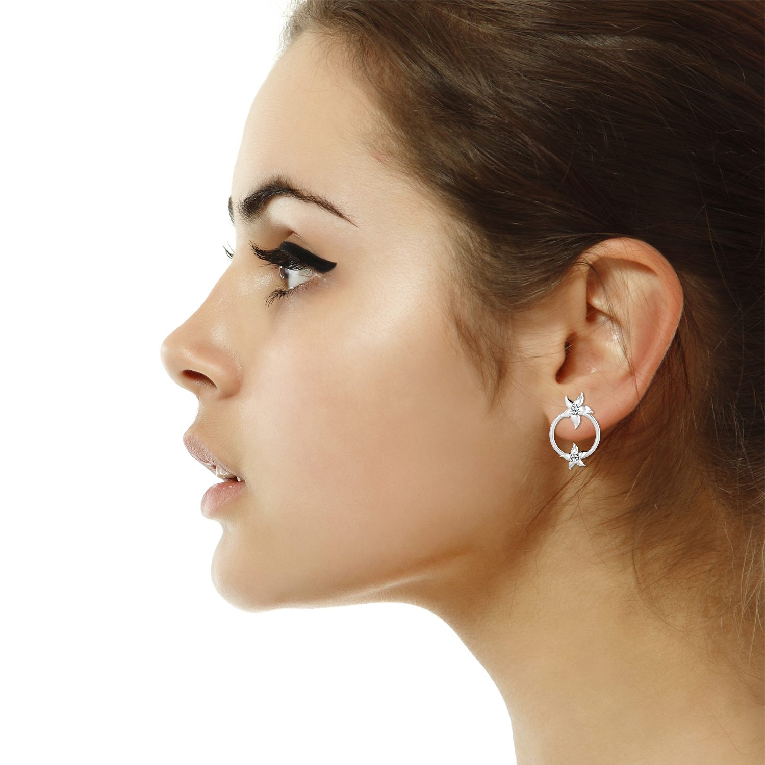Diamond Earrings for Women 0 03ct Natural Solid Gold Anniversary