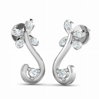 Designer Earrings 0.14ct Diamond Natural Certified Solid Gold Studs