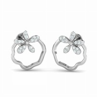 Diamond Drop Earrings 0.15ct Natural Certified Solid Gold Studs for Women