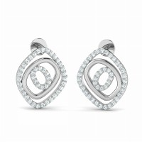 Diamond Earrings 0.55ct Natural Certified Solid Gold Wedding Anniversary