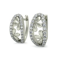 Gold Earrings 0.25 ct Diamond Wedding Anniversary Designer Studs