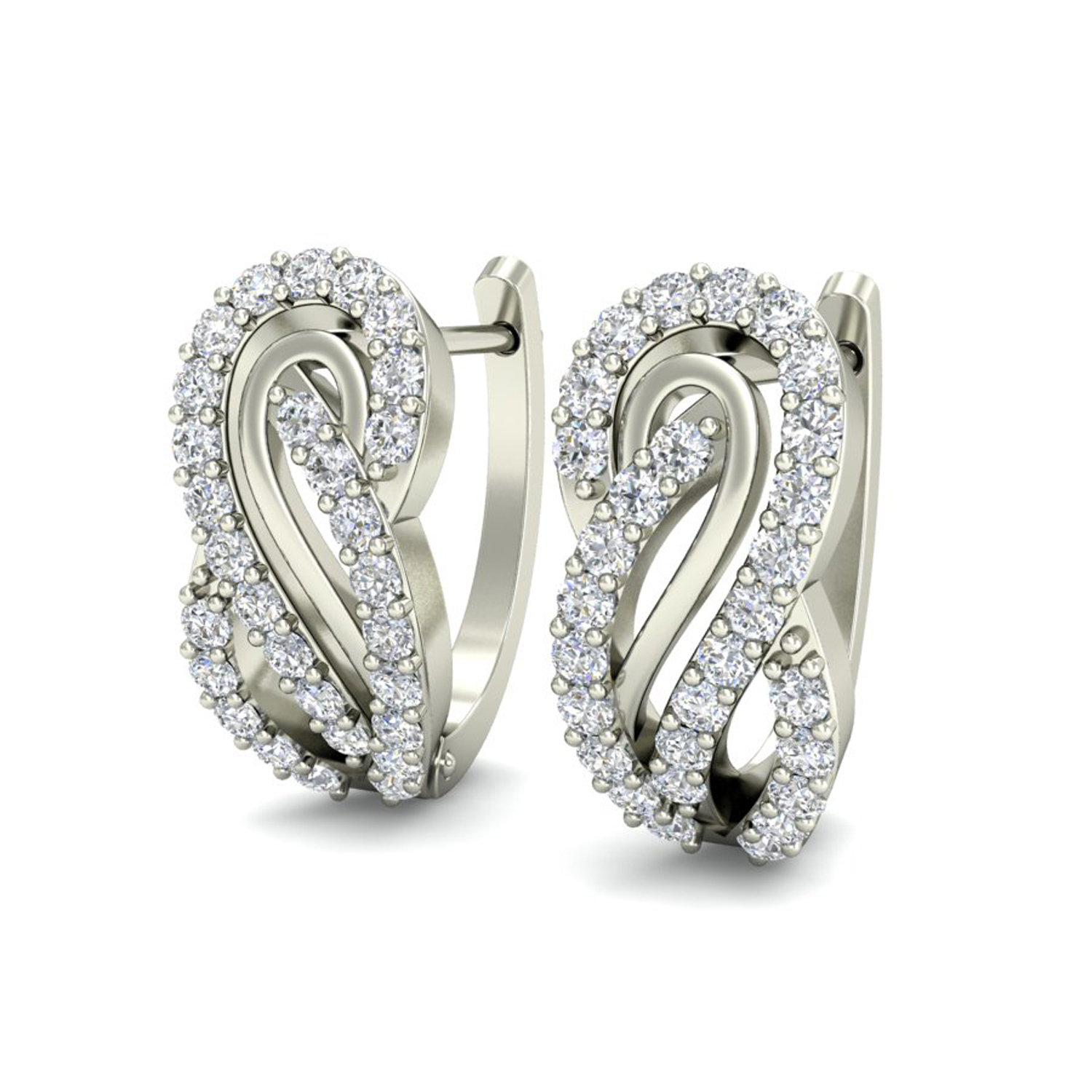 Ct Gold And Diamond Earrings
