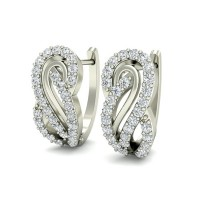 Diamond Earrings Studs 0.40 ct Natural Certified Solid Gold Designer