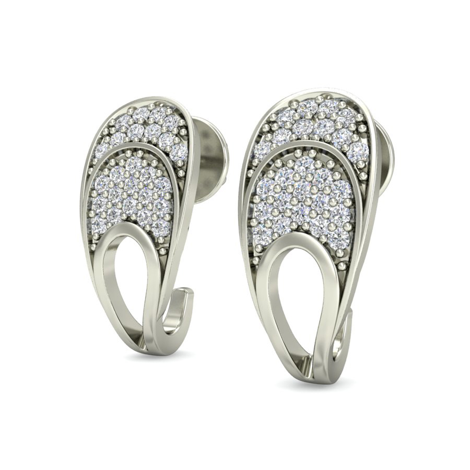 Earrings for Women 0 25 ct Natural Certified Solid Gold