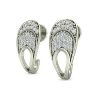 Diamond Earrings for Women 0.25 ct Natural Certified Solid Gold