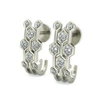Diamond Earrings 0.14 ct Natural Certified Solid Gold Studs
