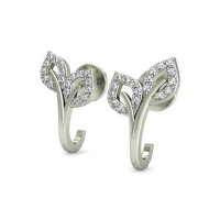 Gold Earrings 0.25 ct Diamond Wedding Anniversary Gift
