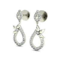 Diamond Earrings Studs 0.34 ct Natural Certified Solid Gold Designer