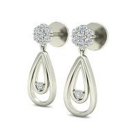 Gold Earrings 0.24 ct Diamond Wedding Studs