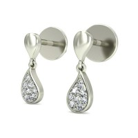 Gold Diamond Earrings 0.94 ct Designer Wedding Studs