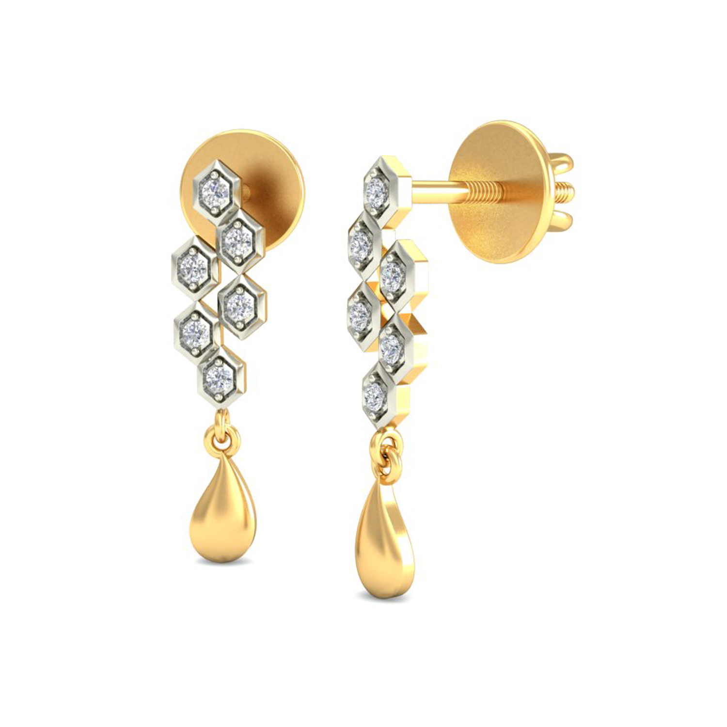 designer ct solid p y natural earrings gold studs hoops certified diamond