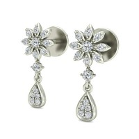 Diamond Studs 0.23 ct Natural Certified Solid Gold Designer Earrings