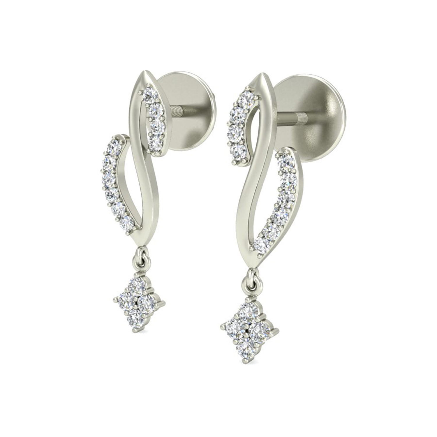 Diamond Earrings for Women 0 22ct Natural Certified Gold Studs