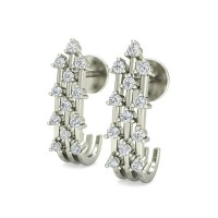 Diamond Studs 0.24 ct Natural Certified Solid Gold Designer Earrings