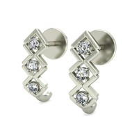 Diamond Earrings Studs 0.18 ct Natural Certified Solid Gold Gift For Anniversary