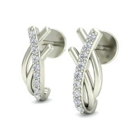 Gold Earrings 0.11 ct Diamond Design Beautiful Studs