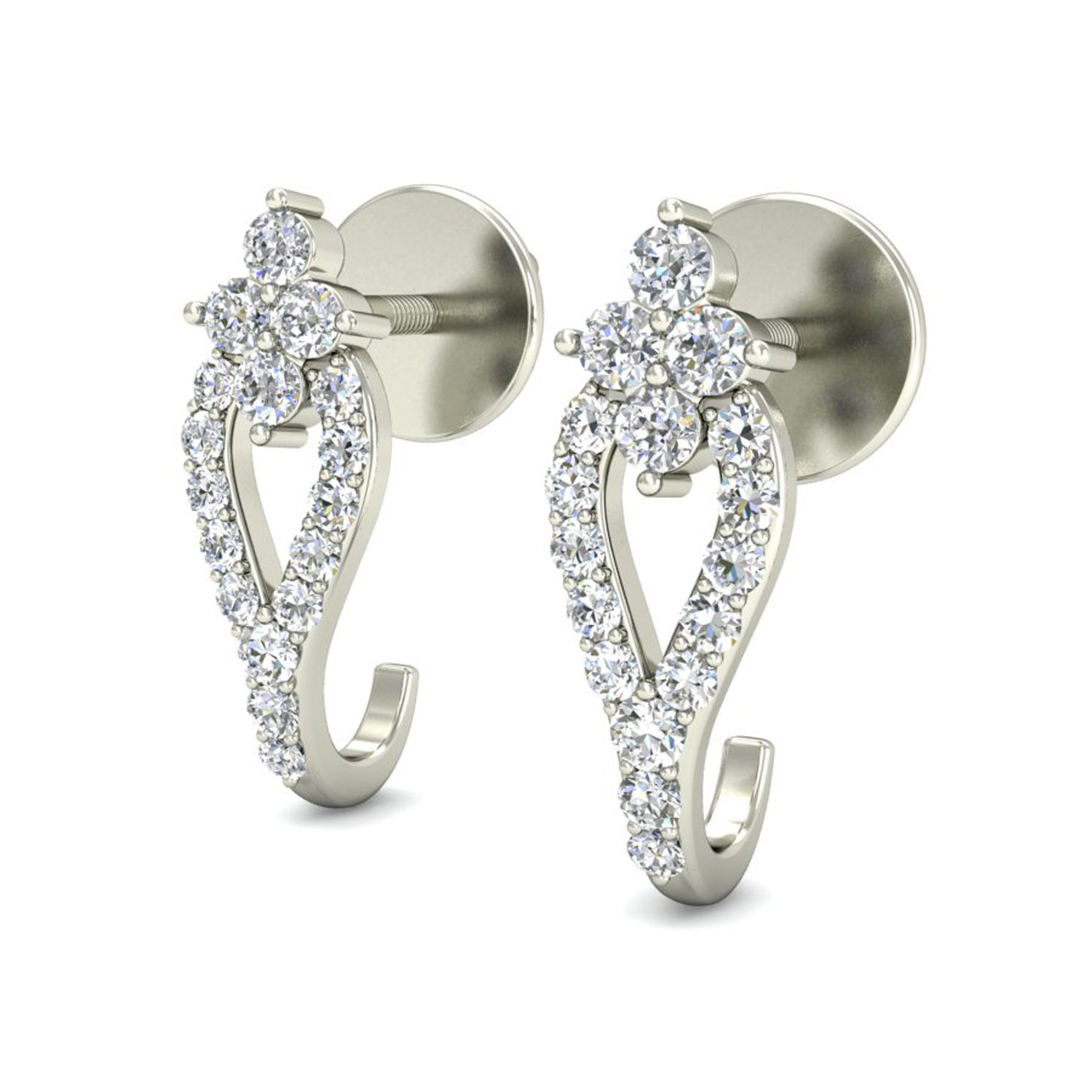diamond earrings for women natural gold beautiful studs. Black Bedroom Furniture Sets. Home Design Ideas