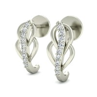 Designer Earrings 0.10 ct Diamond Natural Certified Solid Gold Gift For Special Occasions