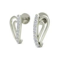Diamond Drop Earrings 0.12 ct Natural Certified Solid Gold  Wedding Studs